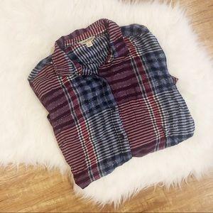 Lucky Brand Stripe Plaid Tunic
